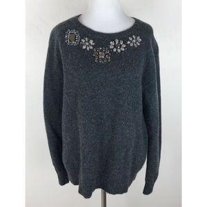 J.Crew Donegal Jewel Embellished Sweater